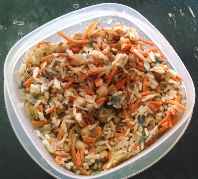 Delicious Cabbage & Carrots with Jasmine & Chic Peas